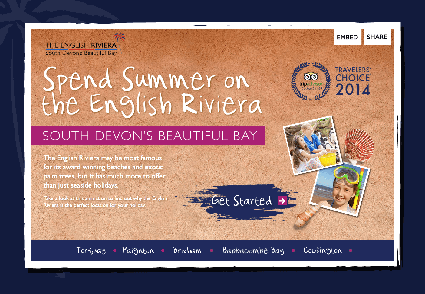 English Riviera Interactive Infographic
