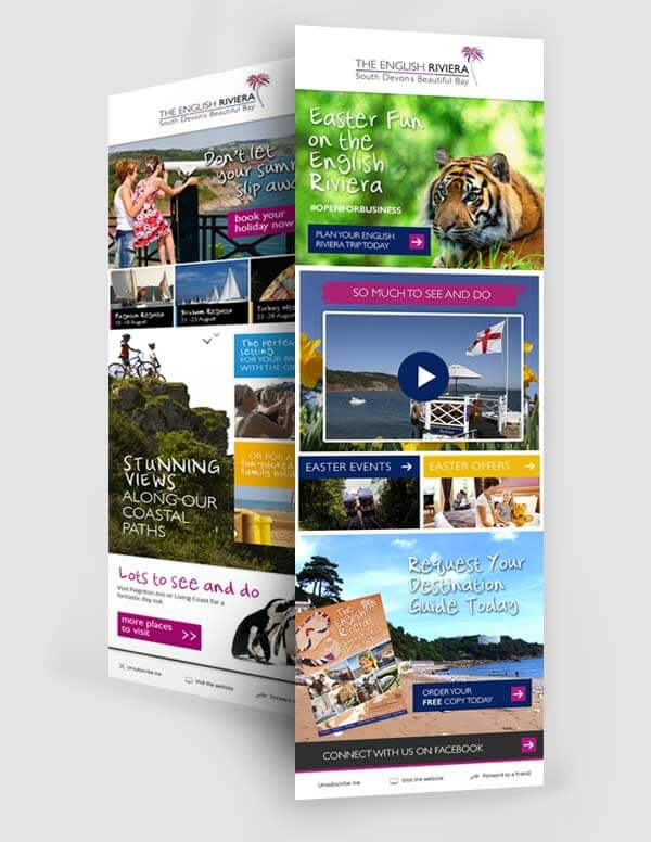 English Riviera Email Newsletter Design