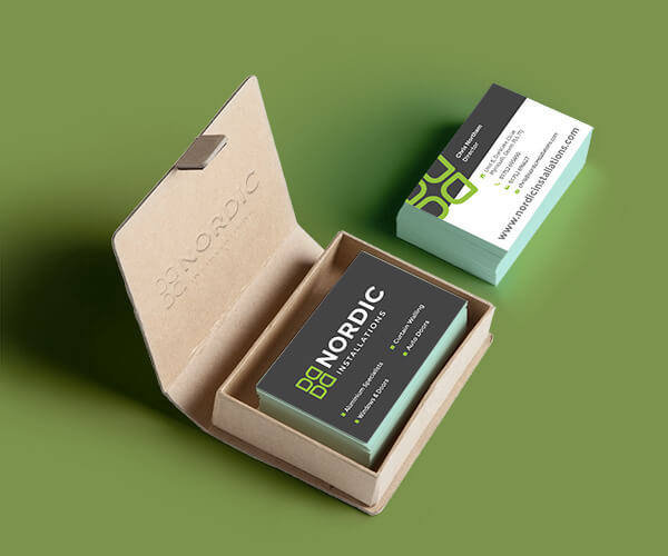 Nordic Installations Business Card Design